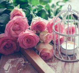Boeket roze rozen - huwelijksliedjes